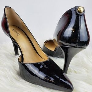 Michael khors black patent stiletto size 8
